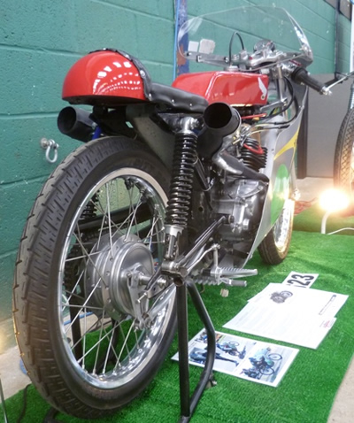 World's quickest 4 stroke 125 on show at the Bristol Classic Bike Show