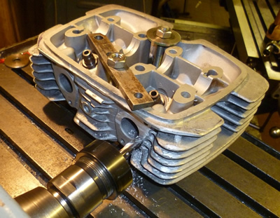 Modifying inlet ports of World's quickest 4 stroke 125cc racing motorcycle