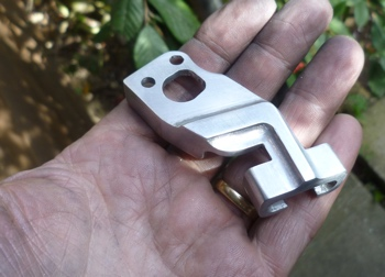 Custom throttle cable bracket for Honda CB125 racing motorcycle